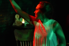 Sophie Adickes in Goblin Market, Head Trick Theatre. Lighting Josef Allen