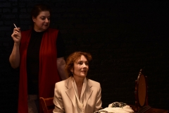 Lee Rush and Becky Minard as Sally and Clarissa in MRS. DALLOWAY by Virginia Woolf, adapted by Hal Coase