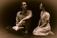Shawn Fennell as Septimus and Rebecca Christie as Rezia  in MRS. DALLOWAY by Virginia Woolf, adapted by Hal Coase