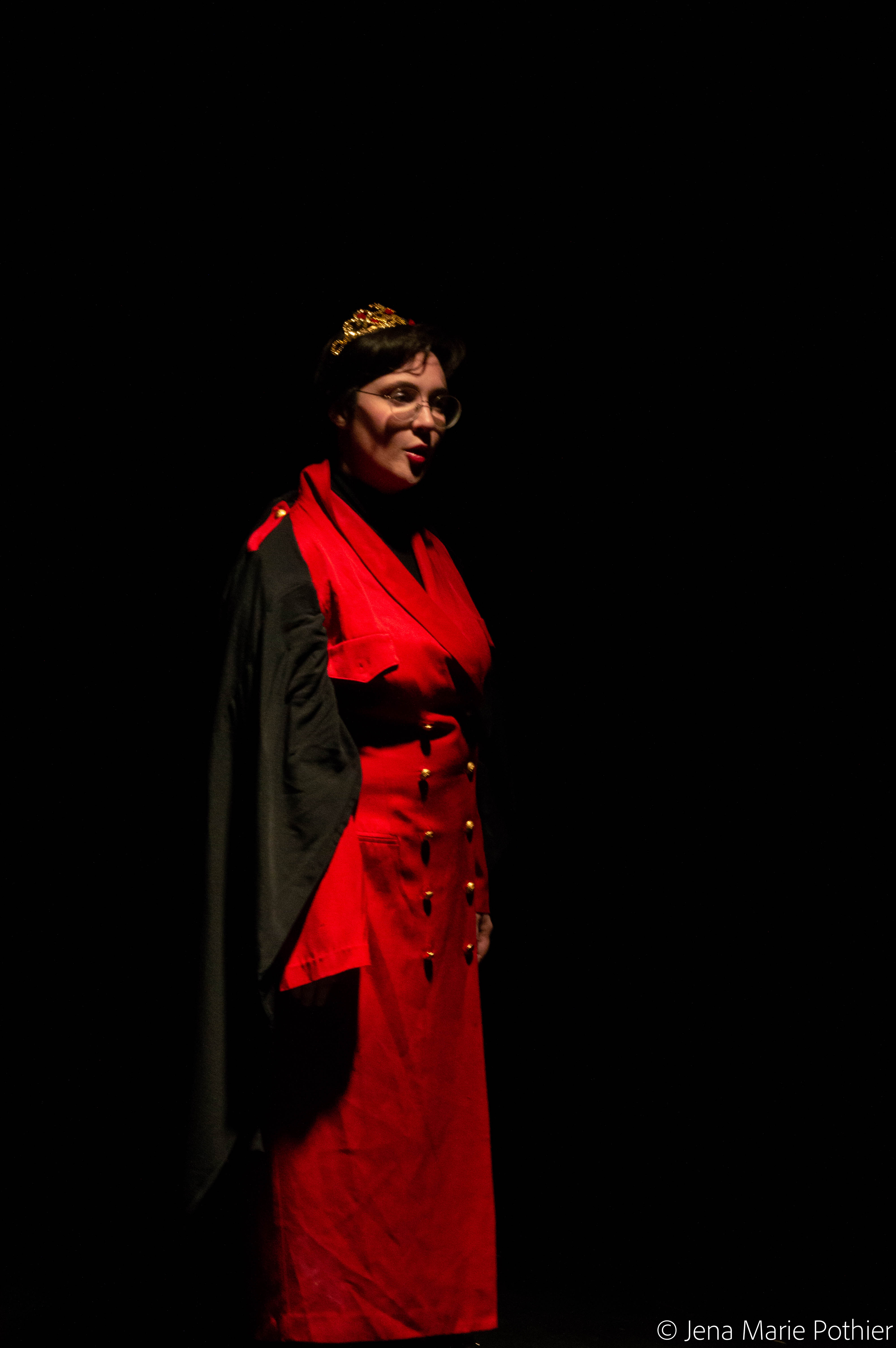Kerstyn Desjardin as Margaret of Anjou in QUEEN MARGARET by Jennifer Dick, adapted from William Shakespeare, presented by Head Trick Theatre