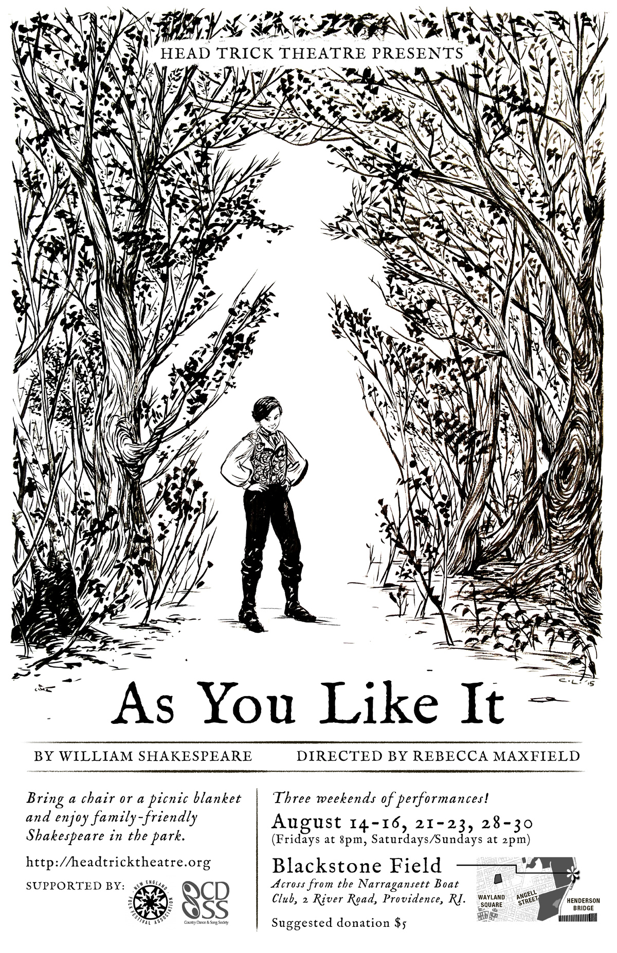 Head Trick Theatre presents Shakespeare's 'As You Like It' directed by Rebecca Maxfield