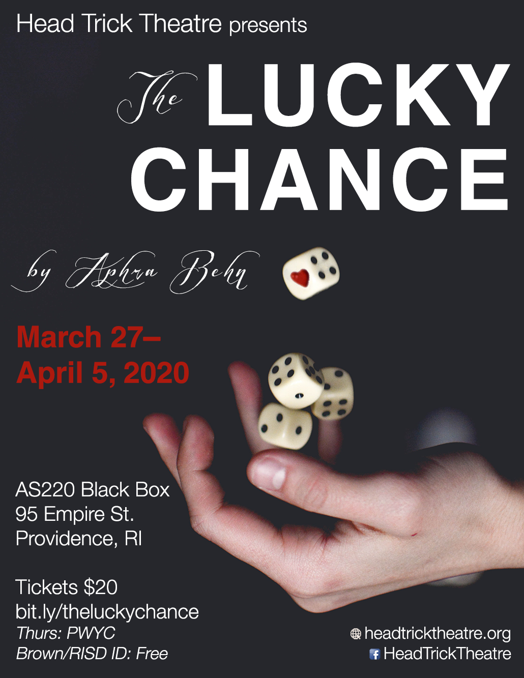The Lucky Chance by Aphra Behn - Poster